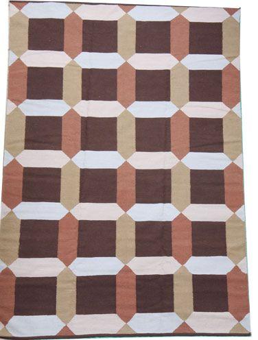 Flat weave rug in stripe design