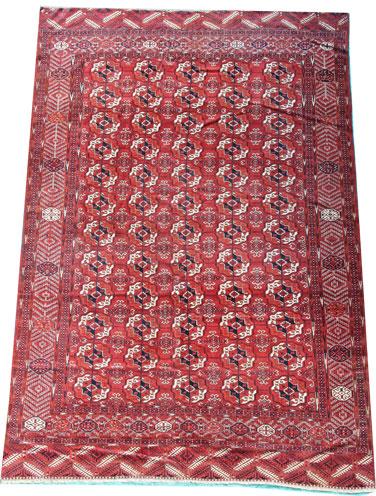 Antique Turkmen rug 330 x 254cm