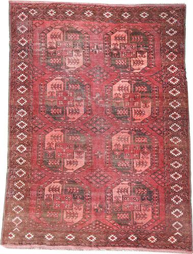 Old Afghan Ersari rug 235 x 185 cm