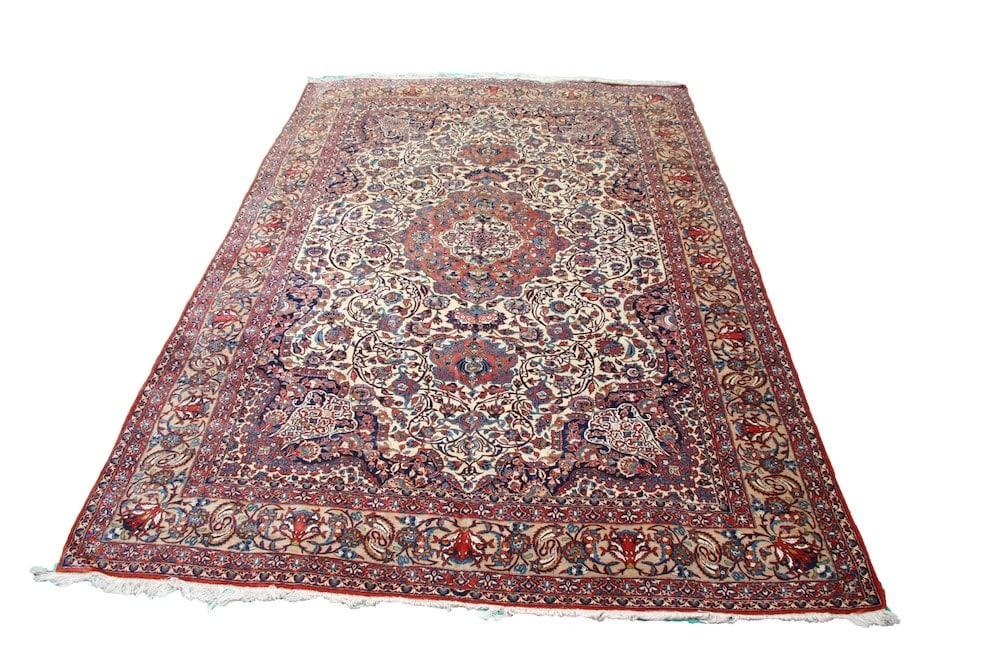 Part Silk Isfahan Carpet c1920