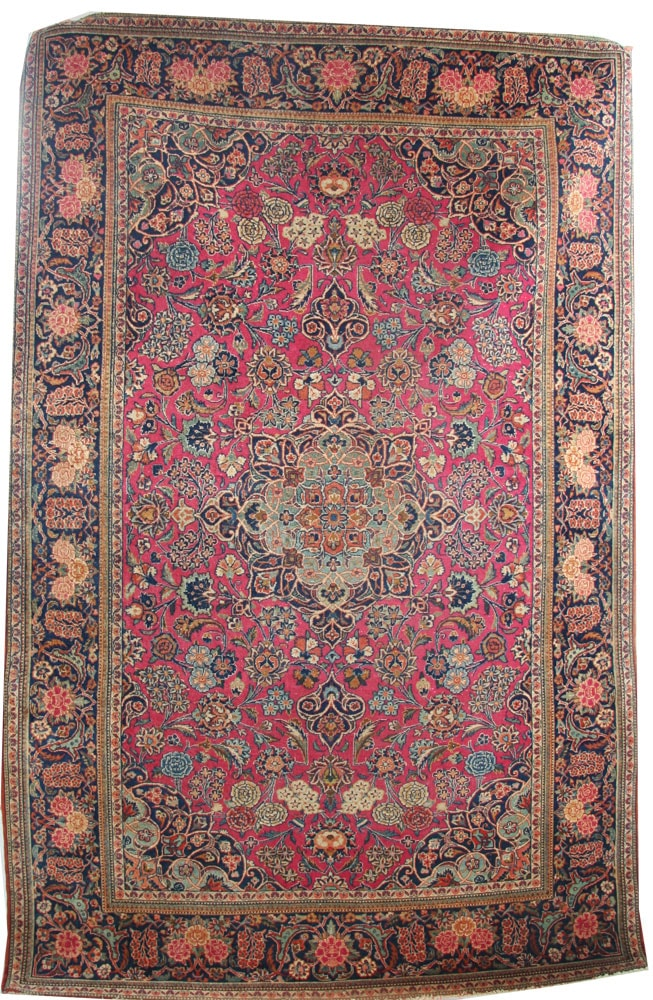 Pink Kashan Rug c1930