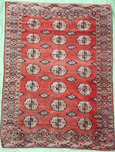 Red Bokhara Turkmen rug 165 x 115 cm