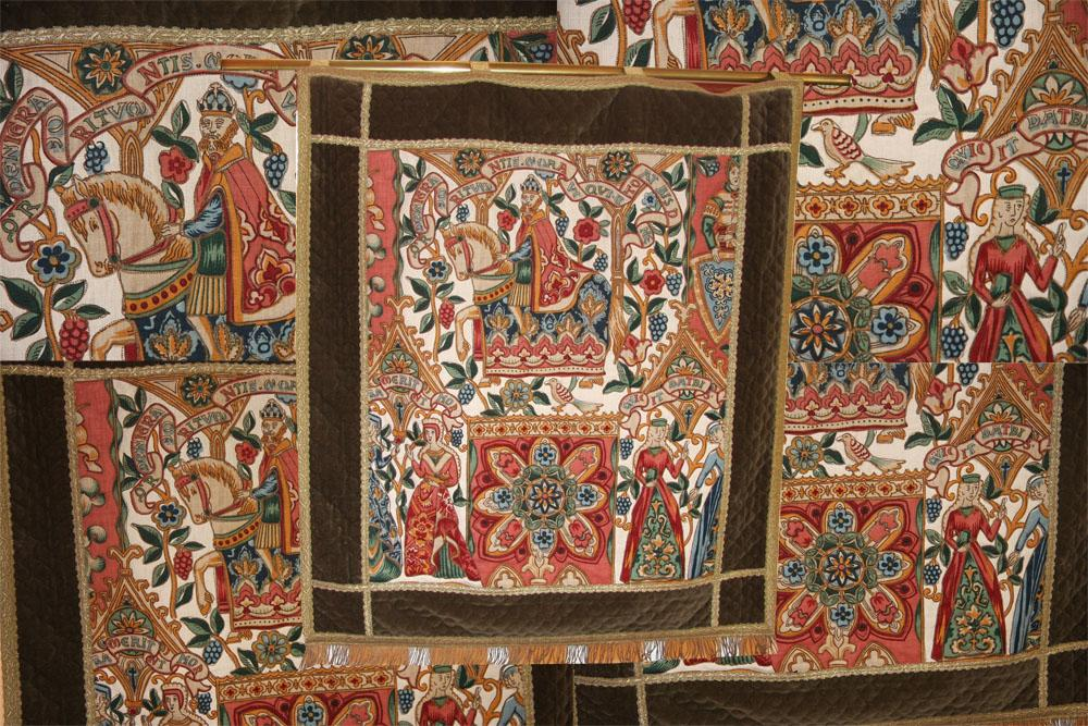EUROPEAN EMBROIDERY TAPESTRY