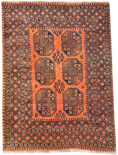 Afghan Gold rug circa 1940 190 x 145 cm