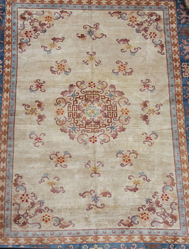 Large Chinese wool rug 430 x 305 cm