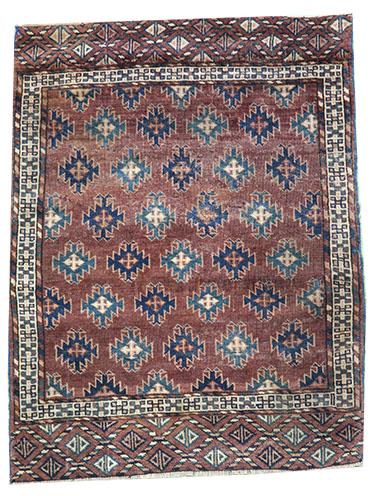 Little antique Yamout rug 115 x 90 cm