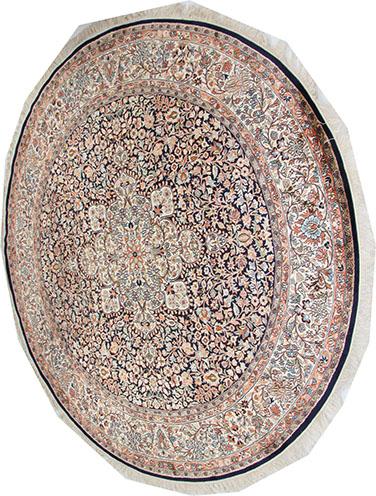 silk Circular Kashmir rug 215 cd