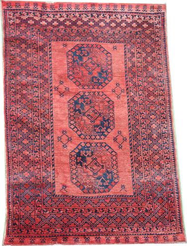 Antique Afghan Ersari rug peach 225 x 150 cm