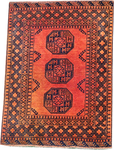 Afghan Gold carpet 140 x 110 cm