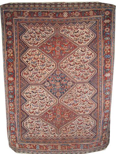 Handmade Wool Khamseh rug 190 x 146cm