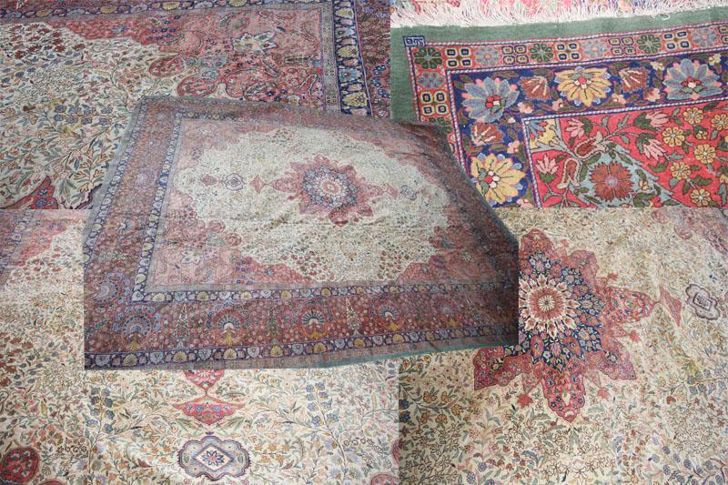 large size antique wool Turkish Hereke carpet