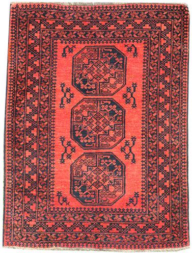 Rusty Afghan old rug 150 x 105 cm