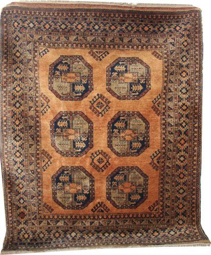Old Afghan gold rug 190 x 150cm
