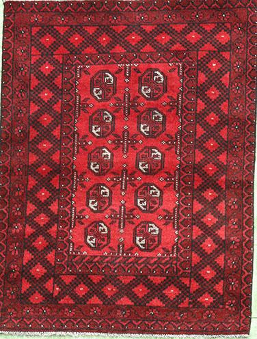 Afghan Rug in rich red 145 x 95cm