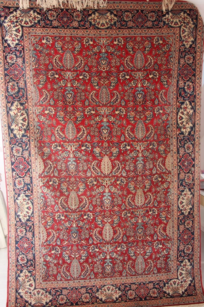 Antique Isfahan Rug c1920