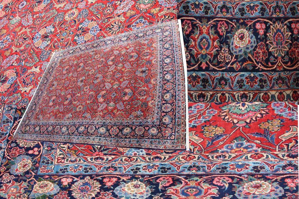 Room size Persian Qazvin carpet circa 1920