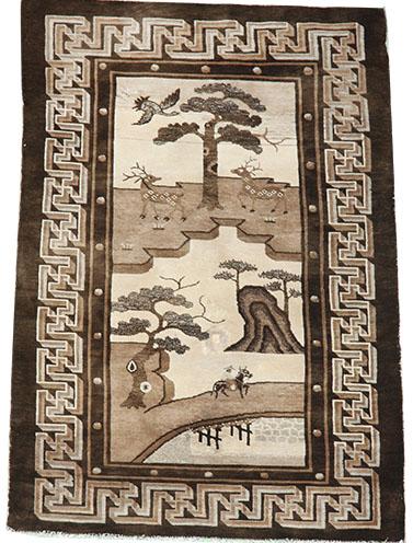 Pictorial Chinese Peking rug 166 x 95 cm