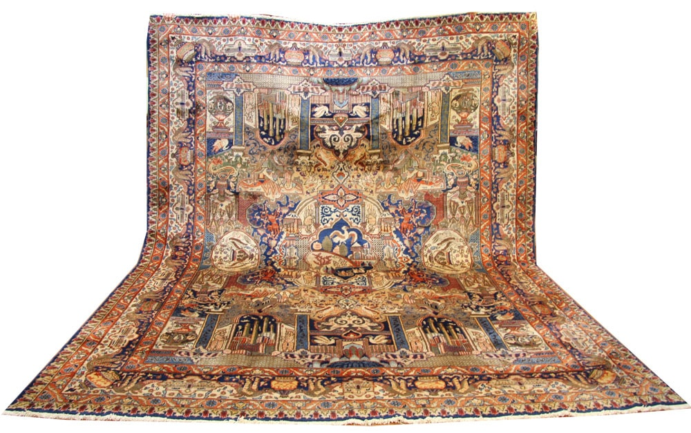 Tabriz Rug Zir Khaki Design