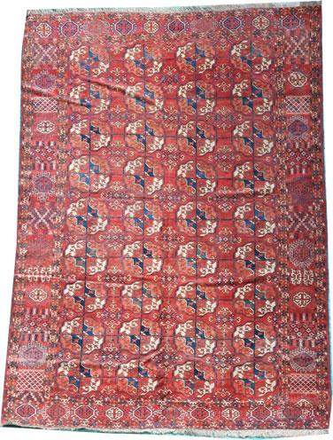 Antique Tekke Turkmen rug 225 x 165cm