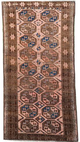 light Pink Afghan Ersari rug 167 x 80 cm