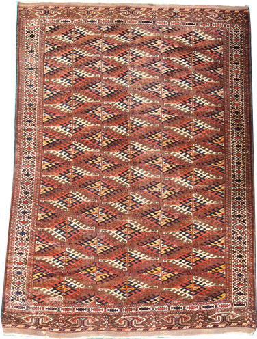 Antique Turkmen Yamout Rug 310 x 190cm